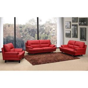 Leather Sofa, Office Sofa, Modern Living Room Sofa (WD-8874)