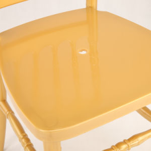 Light Yellow PC Napoleon Chair for Wedding and Event pictures & photos