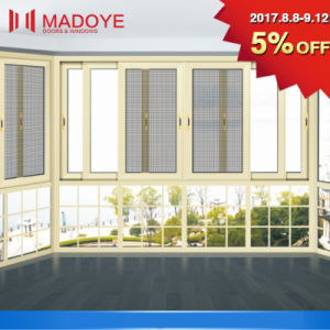 Latest Double Glazing Window with Grill Design pictures & photos
