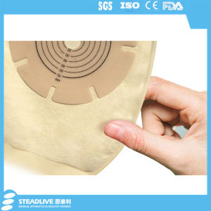 Hydrocolloid Barrier One Piece Drainable 70mm Stoma Ostomy Bag pictures & photos
