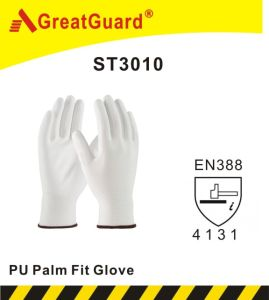 Lite Flex PU Palm Glove (ST3010, CE Certificated) pictures & photos