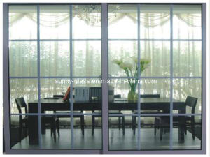8mm 10mm Float Acid Etched Tempered Glass Door pictures & photos