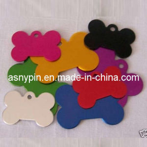 Anodized Aluminum Bone Shaped ID Dog Pet Tag (ASNY-JL-DT-080105) pictures & photos