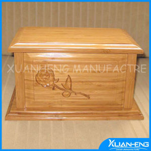 Wooden Funeral Urn Coffin Wooden Urns for Ashes pictures & photos
