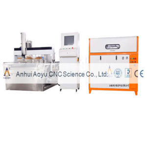 Water Cutting and Carving Machine (gantry, 4-axis) pictures & photos
