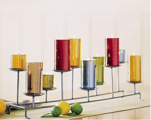 Assorted Chroming Pillar Candle (UCP-1027)