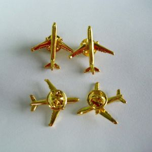 3D Aircraft Metal Badge, Airplane Lapel Pin Custom