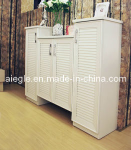 Home Furniture Elizabeth Series White Wooden Cabinet Shoe Cabinet (XG1208-12)