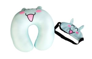 Microbeads Travel Pillow with Mask pictures & photos
