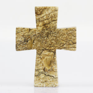 Natural Crystal Picture Jasper Gemstone Cross Ornament Charming Pendant pictures & photos