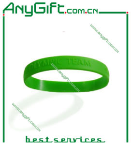 Silicon Wristband with Customized Color and Logo (LAG-WB-01) pictures & photos