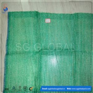 20kg 25kg PE Raschel Vegetable Drawstring Mesh Bags pictures & photos