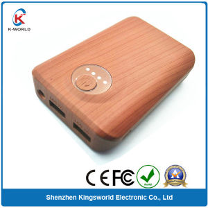 Real Wood Shell 8800mAh Power Battery pictures & photos