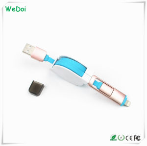 New 2 in 1 Retractable USB Cable with Fast Speed (WY-CA01) pictures & photos