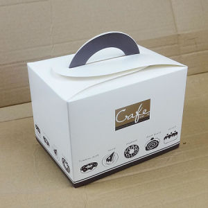 Wholesale Cute Paper Packaging Cake Box with Own Carrying Handle pictures & photos