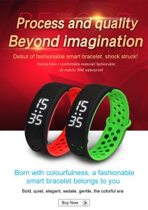 Colorful Waterproof Quality Smart Pedometer IP67