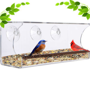 Wholesale Acrylic Window Bird Feeder with Super Strong Suction Cups pictures & photos
