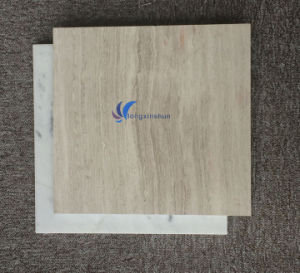 Customized Natural White Beige Wood Tiles and Marbles pictures & photos