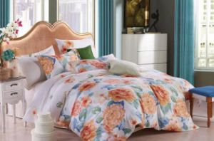 Flower Printed Soft and Comfortable Fashion Bedding Sets (T89) pictures & photos