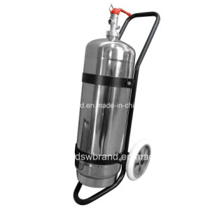 50lbs Stainless Steel Fire Extinguisher with Trolley, 228*680*1.5mm pictures & photos