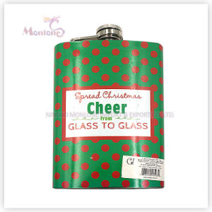 8 Ounce Liquor/Whisky Flask, Transfer Printing Stainless Steel Hip Flask pictures & photos