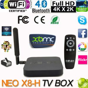 2016 Minix Neo X8-H X8 H Android 4.4 Set TV Box Xbmc Kodi Android Amlogic S802-H Quad Core 2.0GHz Media Player 4k2k 2g/16g 2.4G/ TV Box pictures & photos