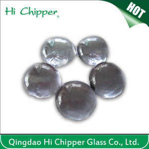 Iridescent Clear Flat Back Fire Pit Glass Beads pictures & photos