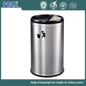 Stainless Steel Indoor Waste Bin with Ashtray pictures & photos