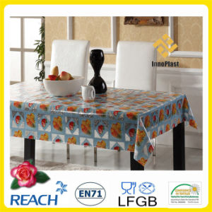 Plastic Transparent Table Cloth in Roll Wholesale Factory pictures & photos
