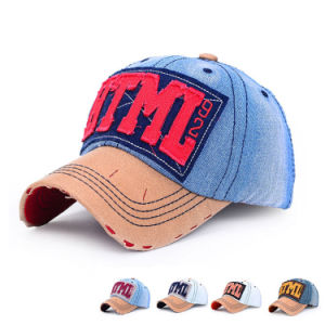 Fashion Patch Embroidered Cotton Denim Baseball Sports Cap (YKY3066) pictures & photos