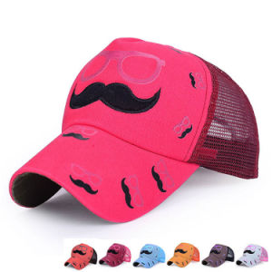 Fashion Printed Embroidered Cotton Twill Mesh Baseball Sports Cap (YKY3098) pictures & photos