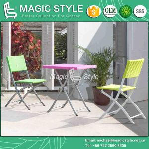 Outdoor Wicker Folded Chair Colorful Rattan Chair Patio Dining Chair Garden Folding Chair (Magic Style) pictures & photos