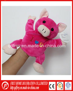 Pink Cute Hand Puppet Toy of Plush Pig pictures & photos