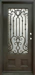 Flat Top Wrought Iron Single Entry Doors for Villa (UID-S048) pictures & photos