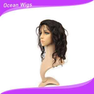100% Indian Virgin Remy Hair Lace Front Wigs 12inch Body Wave Swiss Llace Wig with Baby Hair pictures & photos