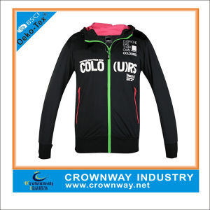 Girls Knitted Tricot Track Training Jacket with Hoody pictures & photos