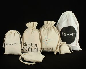Natural Eco Friendly Drawstring Cotton Pouch pictures & photos
