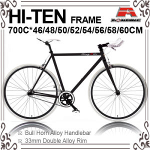 Many Size 700c Hi-Ten Fixed Gear Bic-460/480/500/520/540/550/560/5ke Bicycle for 700c-460/480/500/520/540/550/560/580/600/610mm (KB-700C09) pictures & photos