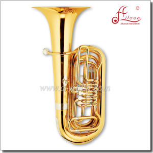 Musical Instrument Gold 4 Valves Rotary Tuba (TU9911-1) pictures & photos