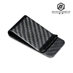 2016 Wholesale Promotional Gift Parts Carbon Fiber Money Clip with Spring pictures & photos