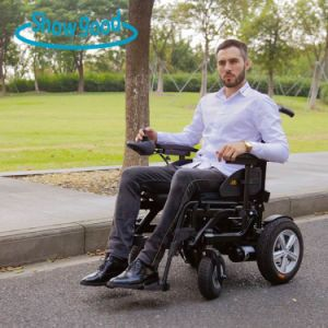 Showgood Electric Foldable Power Wheelchair with Padded Soft Cushion Seat