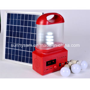 6W Powerful LED Handle Solar Camping Lantern Light pictures & photos