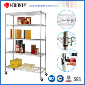 NSF 5 Tiers Storage Rack Commercial Grade, Metal Racks Shelving pictures & photos