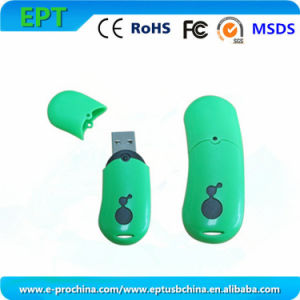 Customized Logo Pea Shape Memory Stick USB Flash Drive (ET109) pictures & photos