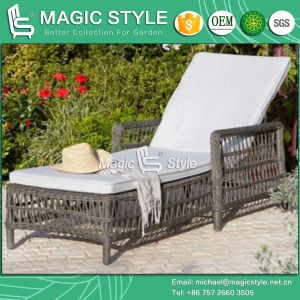 Rattan Sunlounger Elegant Sun Bed Leisure Daybed Special Weaving Sun Lounge (Magic Style) pictures & photos