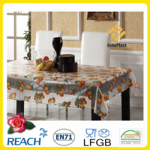 PVC Transparent Table Cloth in Roll Factory pictures & photos