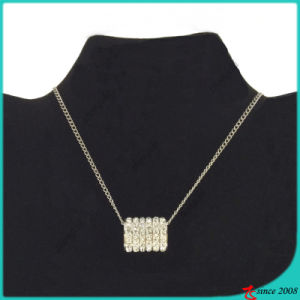 Crystal Pave Bar Necklace for Girl Jewelry (FN16040906)