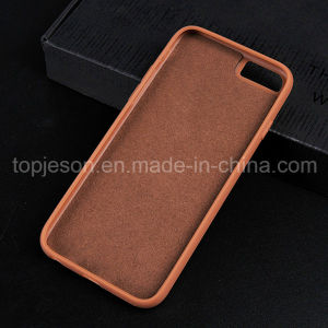 Khaki with Brown Genuine Leather Case for iPhone 6/6s pictures & photos