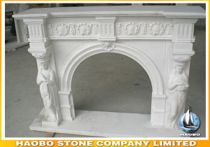 Stone Statue Carved Roman Greek Fireplace Surrounds pictures & photos