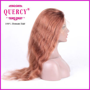 Brazilian Lace Front Wig for Women with Baby Hair, Wavy, Can Be Dyed to Darker Color pictures & photos